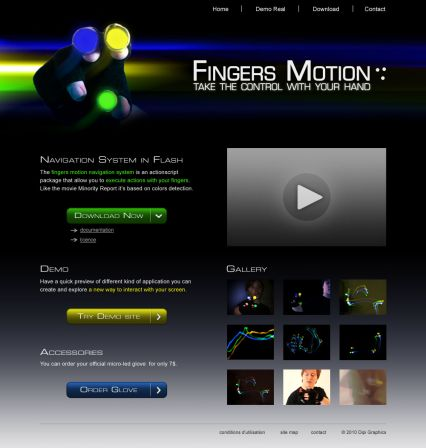 homePage Finger Motion v2F
